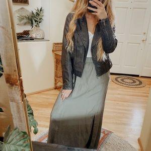 Lou & Grey Olive Green Maxi Skirt